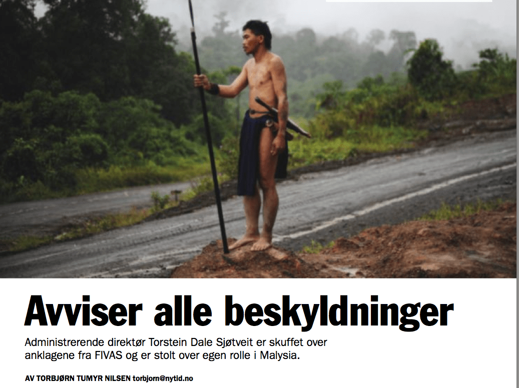 Norway's paper cover's the concerns about SEB chief Torstein Dale Sjotveit