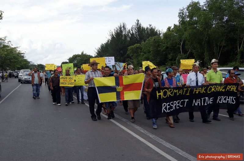 Rural flavour was pronounced in these marches. People had made the effort to get in from all over Sarawak