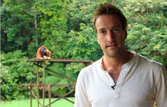 PR jungle stunt with Ben Fogle