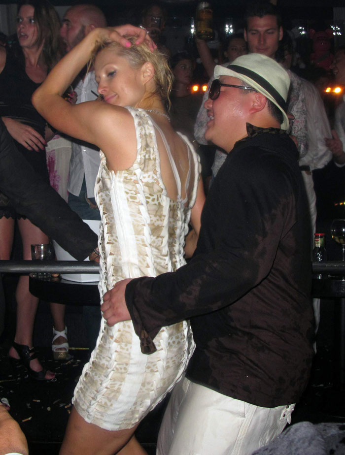 Having fun - tycoon Jho Low on a regular jaunt with Paris Hilton