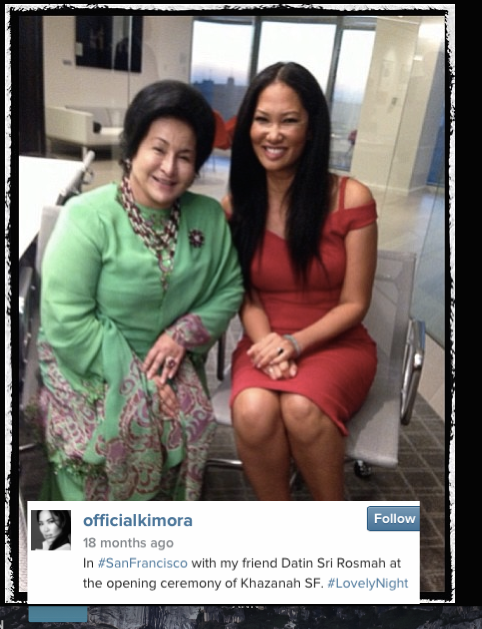 So many close connections. The wife of Goldman Sachs Asia's Tim Leissner and Rosmah Mansor.