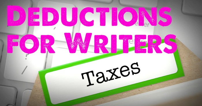 Tax deductions for writers