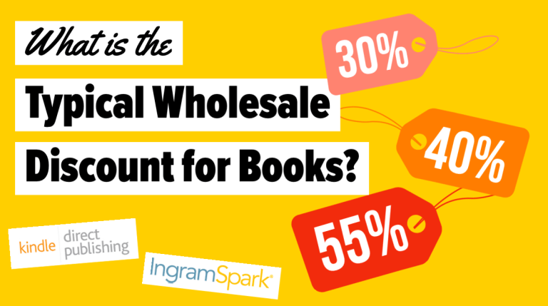 What is the typical wholesale discount for books?