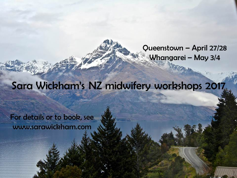 Sara Wickham's New Zealand workshops 2017!