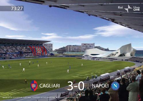 Sant'Elia stadium © OMA - Office for Metropolitan Architecture, Floris Alkemade, Rem Koolhaas