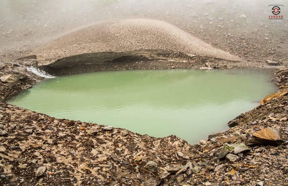 glacier pond near rama lake