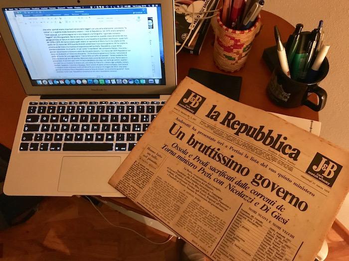 """6 maggio  1979: Quando i giornali erano tutti """"scritti"""" (di Giampaolo Cassitta)"""