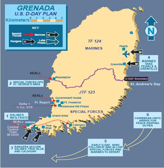 25 ottobre 1983, gli Stati Uniti invadono Grenada (di Francesco Giorgioni)