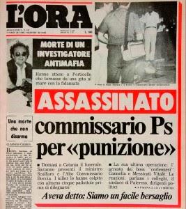 28 luglio 1985: viene ucciso il Commissario Beppe Montana (di Giampaolo Cassitta)