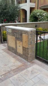 muretto di recinzione in cemento stampato