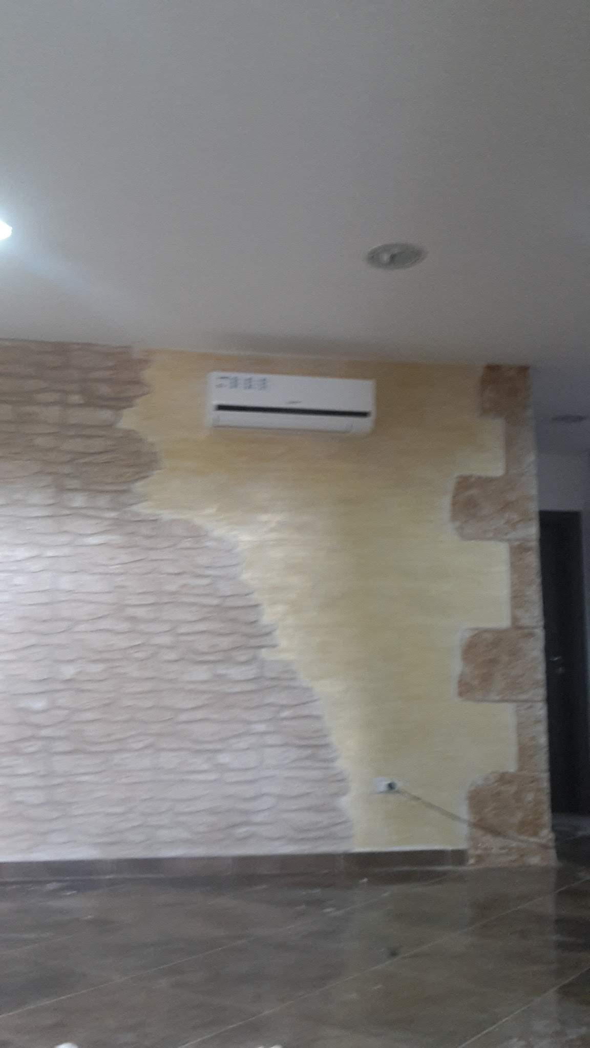 Parete In Pietra Soggiorno rivestimento pareti in finta pietra - oristano e provincia