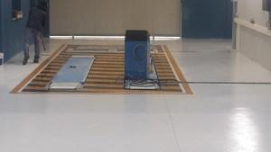 Pavimento industriale con finitura epossidica presso capannone industriale a Oristano