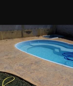 Cemento stampato roccia per bordo piscina