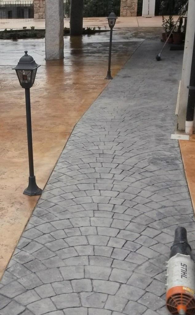 Passerella Cemento stampato sanpietrini grigio