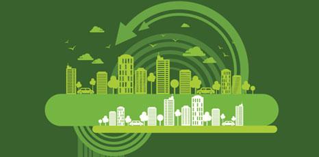 Illustrazione di una città green