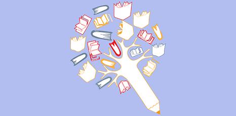 Illustrazione sul tema della scrittura creativa