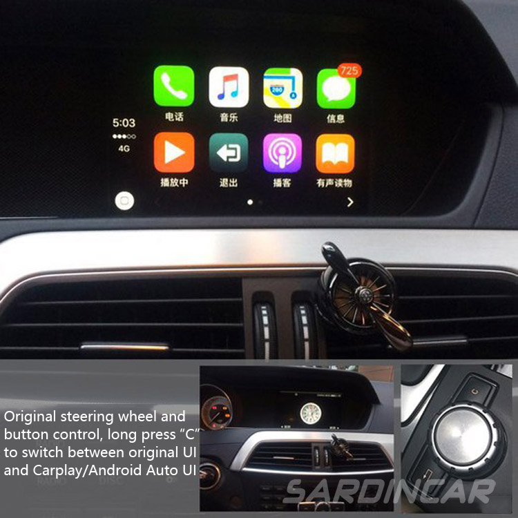 mercedes benz ntg4 5 4 7 carplay android auto mirrorlink for a b c w204 e w212 glk x204 ml gl. Black Bedroom Furniture Sets. Home Design Ideas