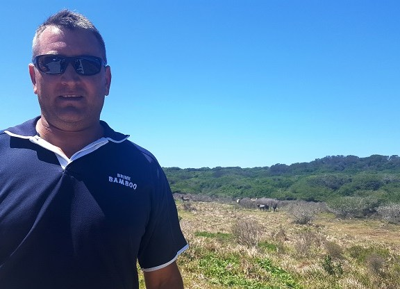 Abrie Pretorius, wildlife manager at Sardinia Bay Golf and Wildlife Estate in Port Elizabeth, will monitor the wildlife closely as calving season approaches.