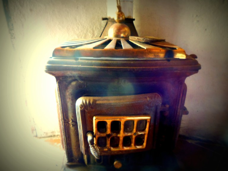 Old timer stove in the 'pinnetta' for the cold days