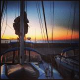 Yachthafen Calasetta im Sonnenuntergang