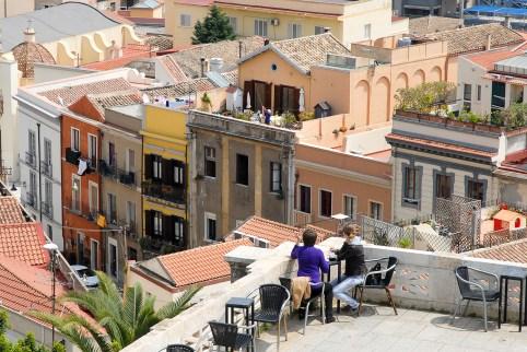 Historisches Bauwerk mit Aussichtsterrasse