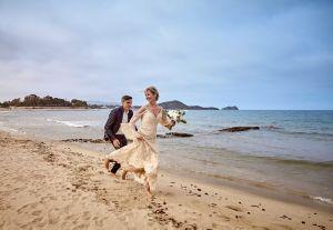 Brautkleid am Strand