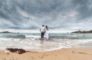 Was passiert bei Regen auf der Strandhochzeit?