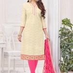 Buy Cotton Casual Churidar Suit Online