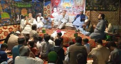 فیصل آباد میں جشن مولاٸے کاٸنات علی کے سلسلہ میں محفل منعقد کی گٸی