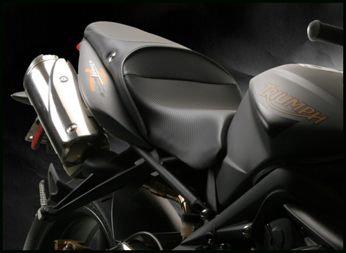 triumph street triple r wiring diagram 1992 dodge dakota headlight sargent seats world sport seat the 2008 2012 performance is shown with carbonfx and all black