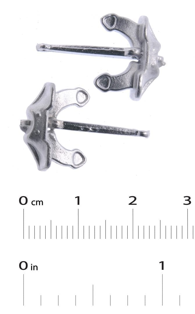 White Metal Boat Fittings Anchor X2