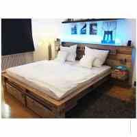 ᐅᐅ Palettenbett kaufen   Mit LED und vielen Extras   Bett ...