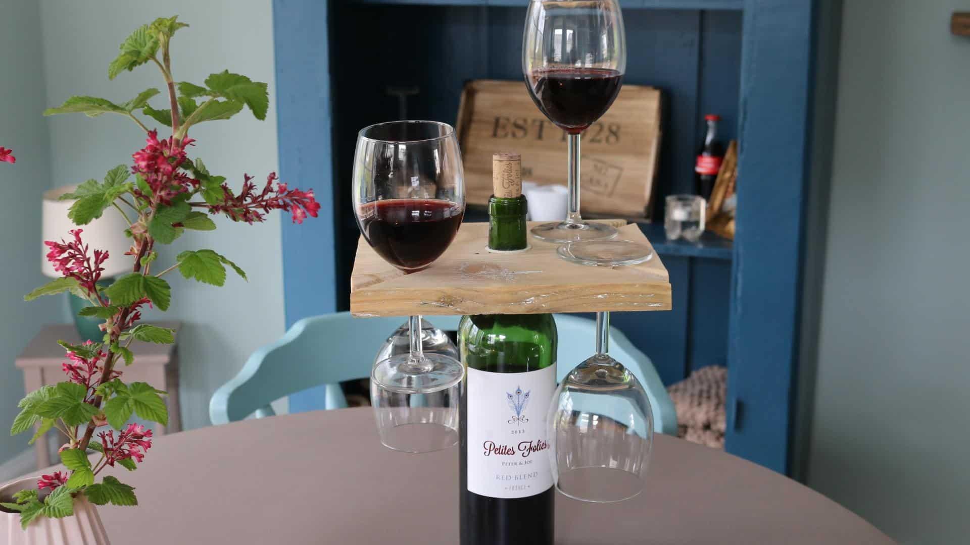 Weinglashalter fr die Weinflasche selber bauen  DIY