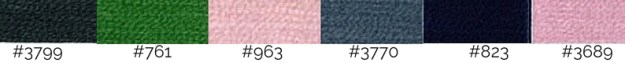 DMC Thread Colours Rich Silks Colour inspiration palette