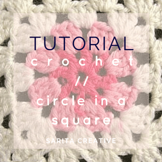 Tutorial Crochet Circle in Square