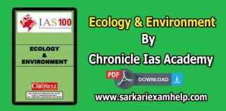 Ecology & Environment {पारिस्थितिकी एवं पर्यावरण} PDF Notes in Hindi & English By Chronicle Ias Academy