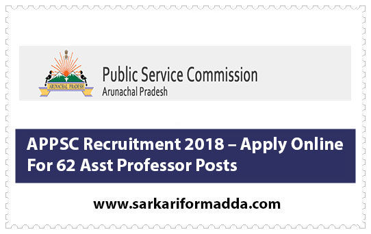 APPSC Recruitment 2018 – Apply Online For 62 Asst Professor Posts