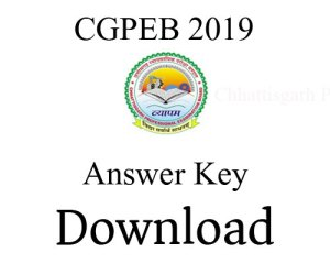 CGPEB 2018 – CG SET Answer Key Released