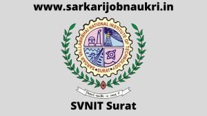 SVNIT Recruitment 2021 For 38 Technician Posts Apply Online