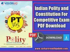 Indian Polity and Constitution For Competitive Exam PDF Download