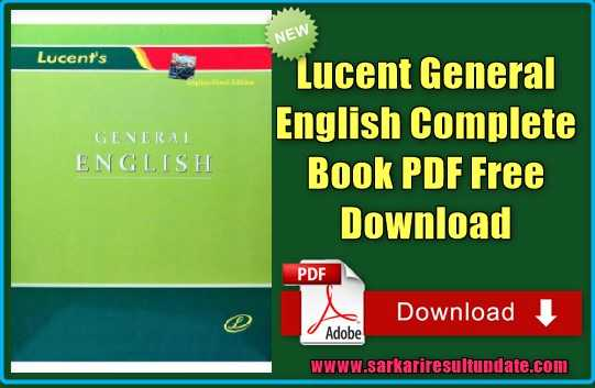 Lucent General English Complete Book PDF Free download