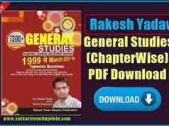 Rakesh Yadav General Studies (ChapterWise) PDF Download