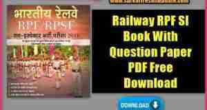 Railway RPF SI Book With Model Paper PDF