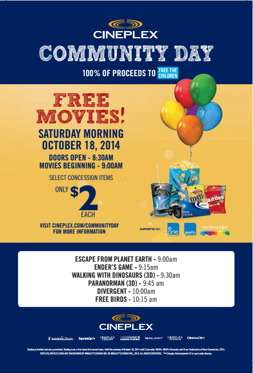 Cineplex Community Day 2014