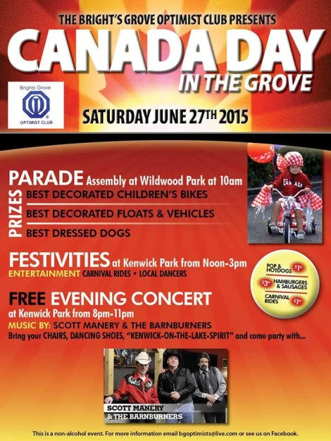 Bright's Grove Canada Day 2015