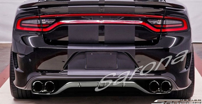 custom dodge charger sedan rear bumper