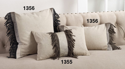 cowhide sofa throws tosh furniture modern italian design leather franco sectional saro - 1355 suede fringe pillow