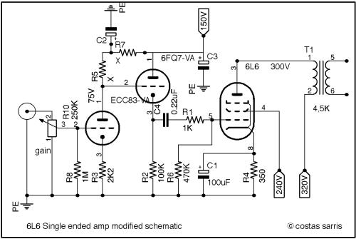 small resolution of 6l6 audio se modified schematic