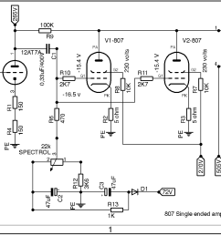 807 parallel single ended amp schematic [ 1178 x 885 Pixel ]