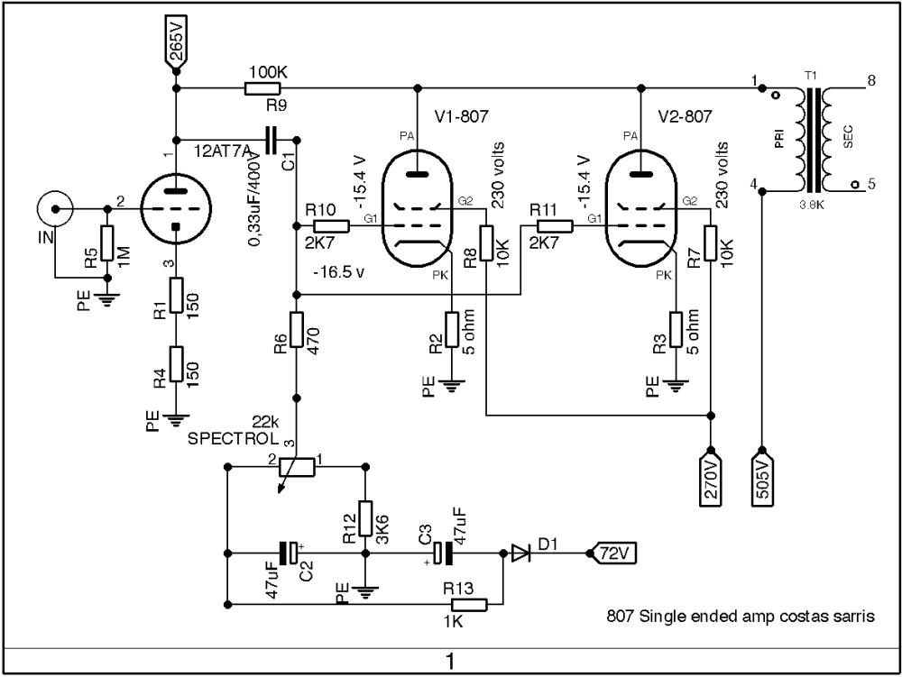 medium resolution of 807 parallel single ended amp schematic